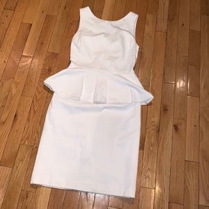 White Peplum Dress, Banana Republic